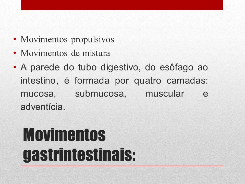 Movimentos gastrintestinais: