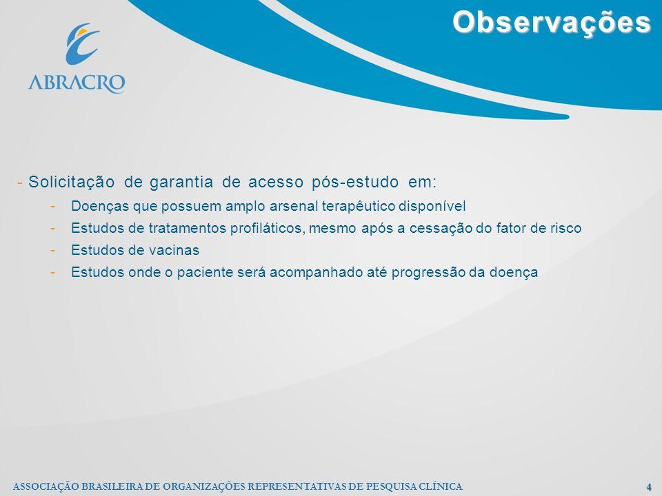 Observações Solicitação de garantia de acesso pós-estudo em: