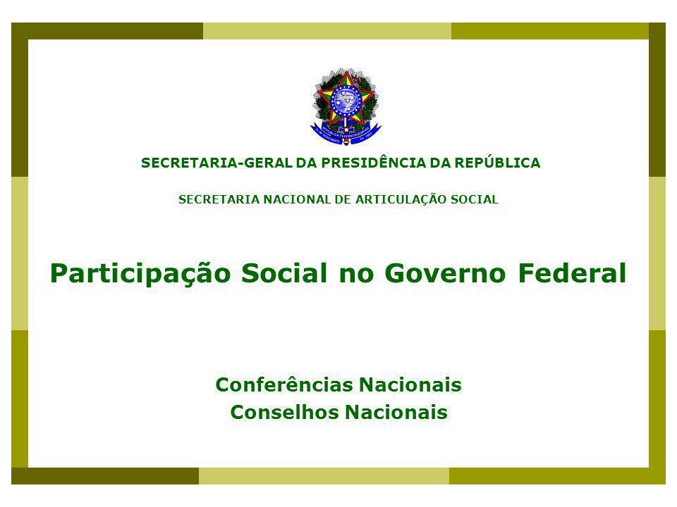 Participação Social no Governo Federal