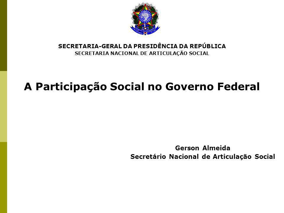 Gerson Almeida A Participação Social no Governo Federal
