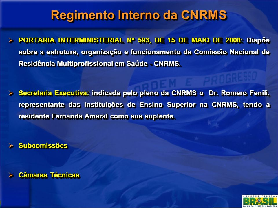 Regimento Interno da CNRMS