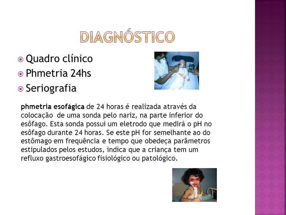 Diagnóstico Quadro clínico Phmetria 24hs Seriografia