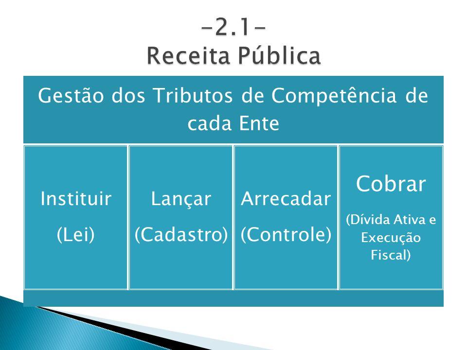 -2.1- Receita Pública Cobrar (Dívida Ativa e Execução Fiscal)