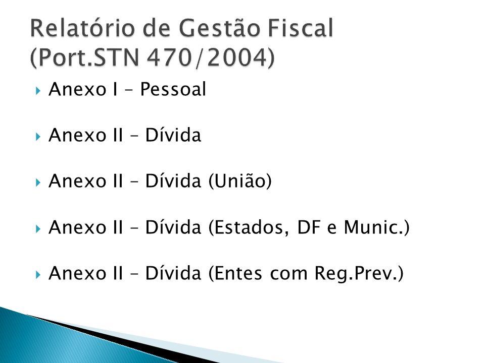 Relatório de Gestão Fiscal (Port.STN 470/2004)