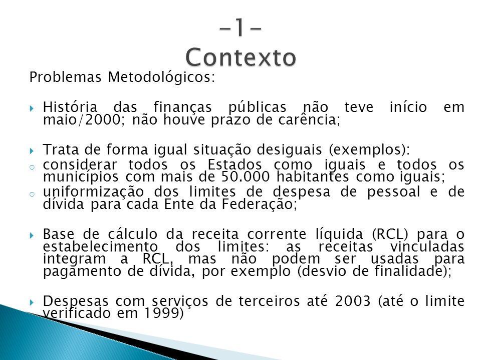 -1- Contexto Problemas Metodológicos: