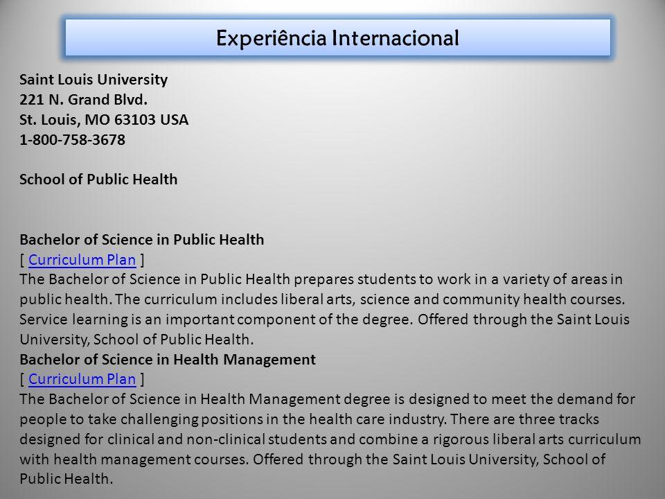 Experiência Internacional