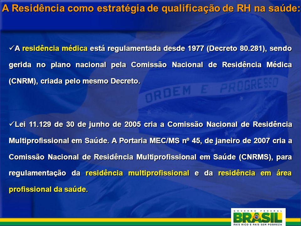 A Residência como estratégia de qualificação de RH na saúde: