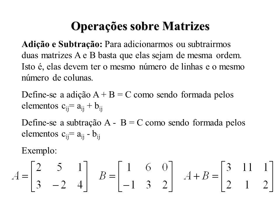 Operações sobre Matrizes
