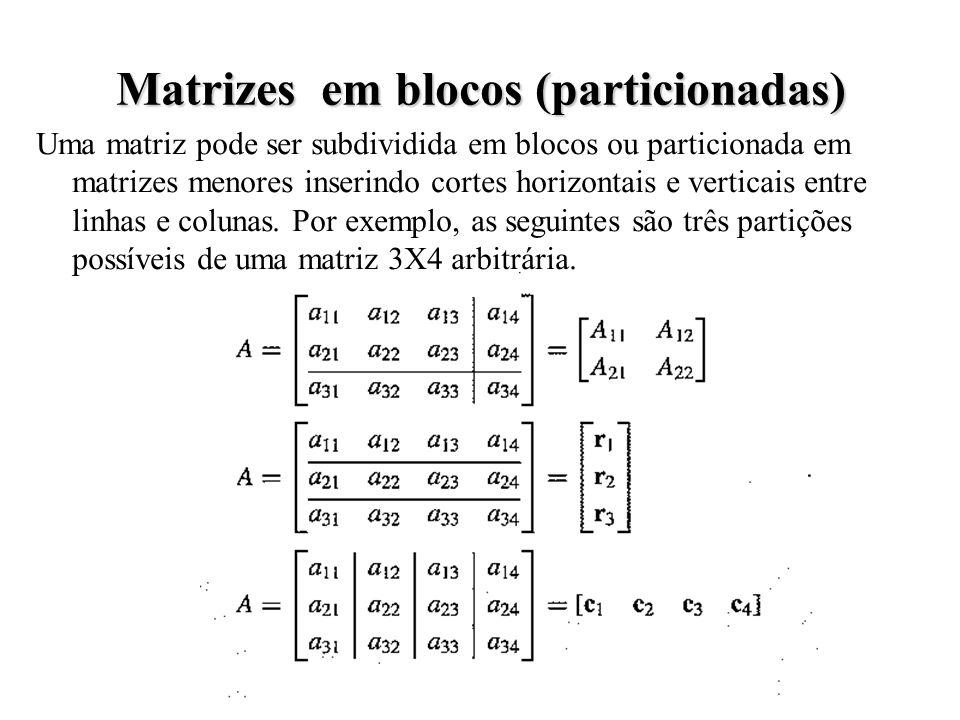 Matrizes em blocos (particionadas)