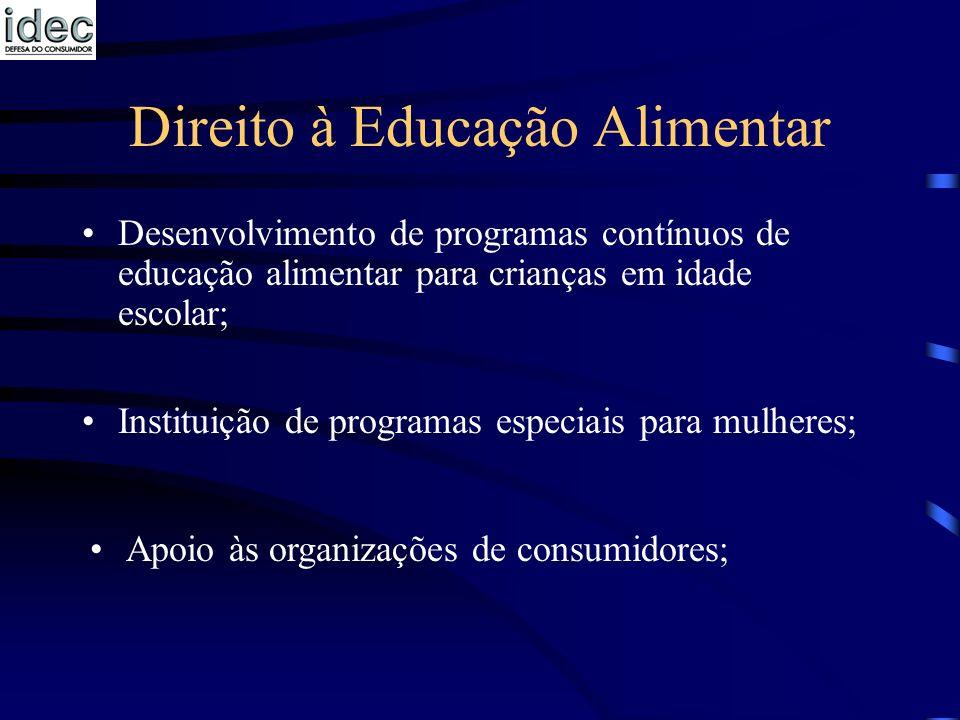 Direito à Educação Alimentar