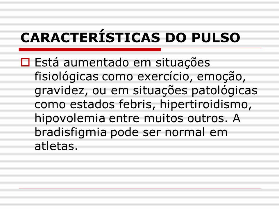 CARACTERÍSTICAS DO PULSO