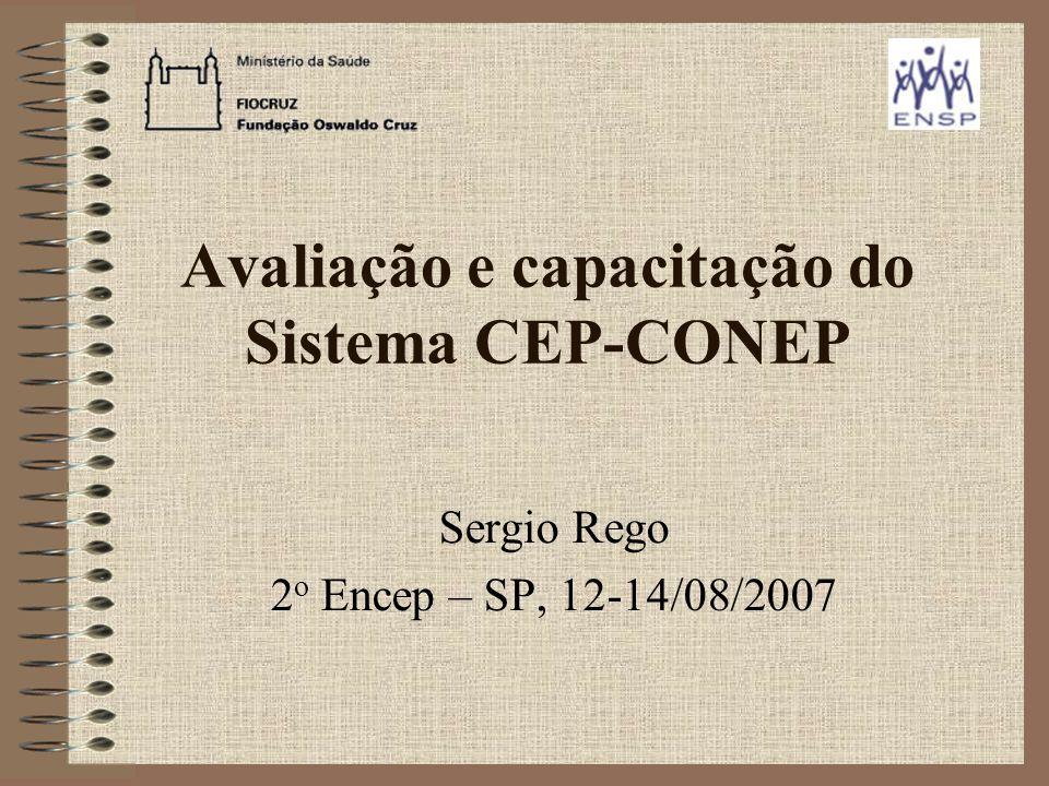 Avaliação e capacitação do Sistema CEP-CONEP