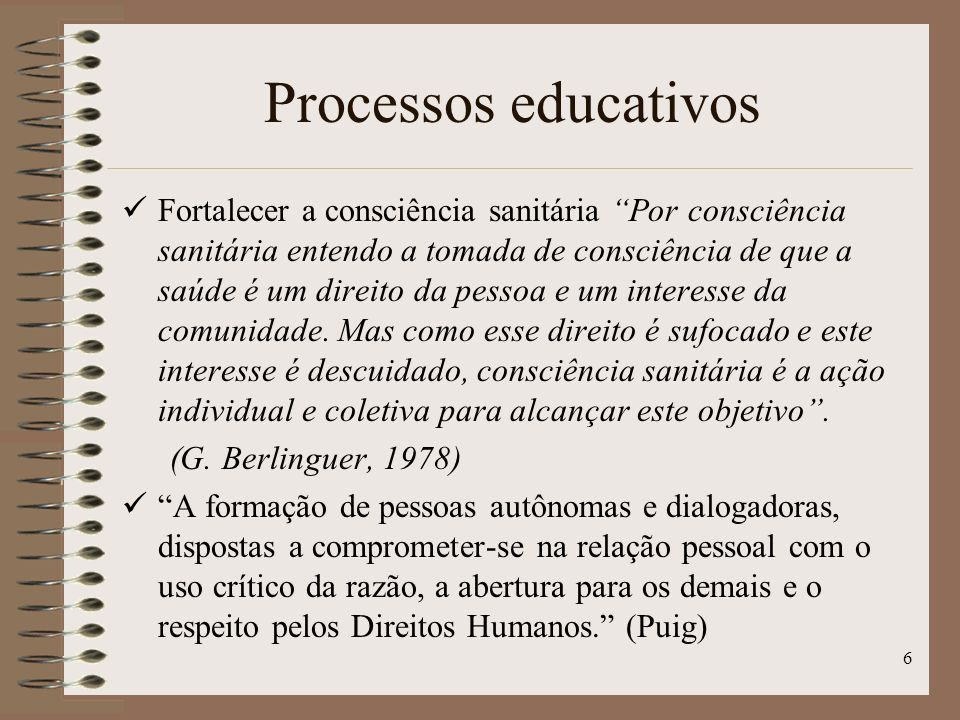 Processos educativos