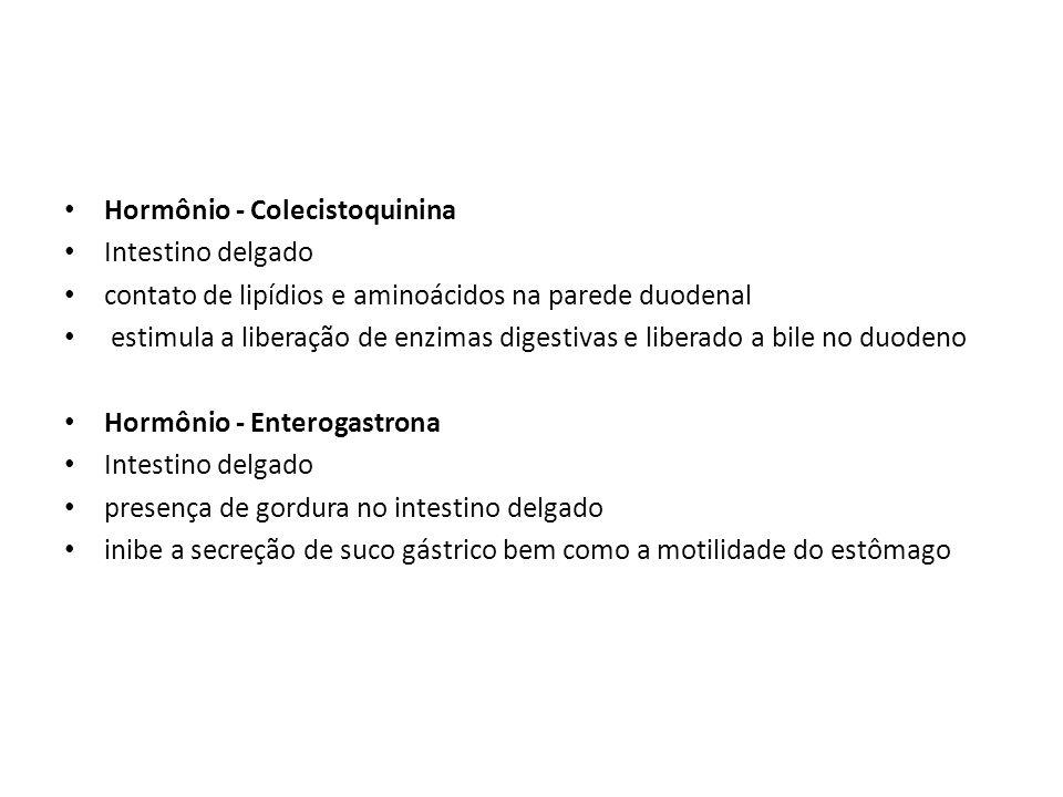 Hormônio - Colecistoquinina