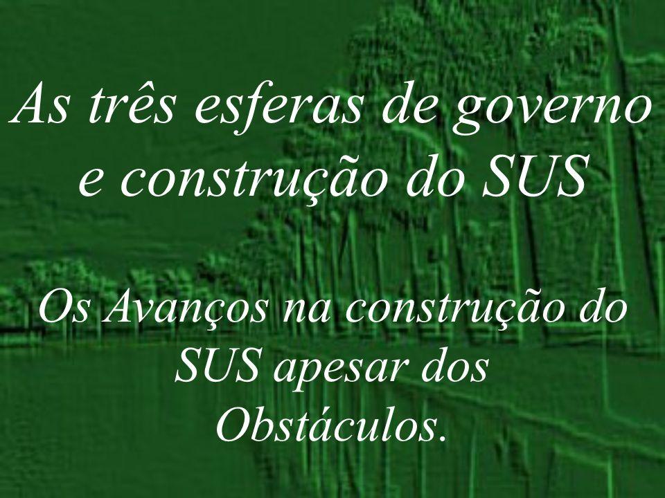 As três esferas de governo e construção do SUS