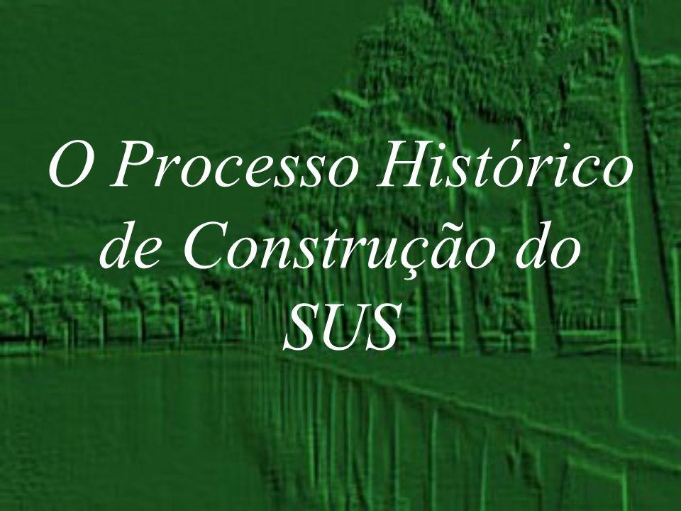 O Processo Histórico de Construção do SUS
