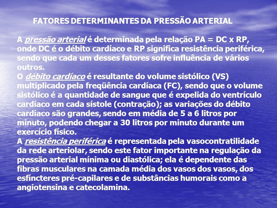 FATORES DETERMINANTES DA PRESSÃO ARTERIAL