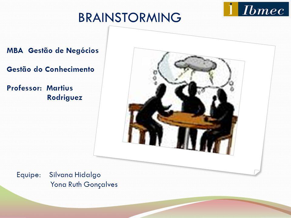 BRAINSTORMING MBA Gestão de Negócios Gestão do Conhecimento