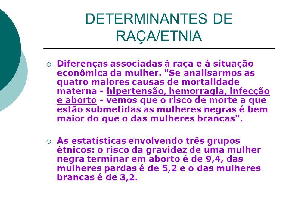 DETERMINANTES DE RAÇA/ETNIA