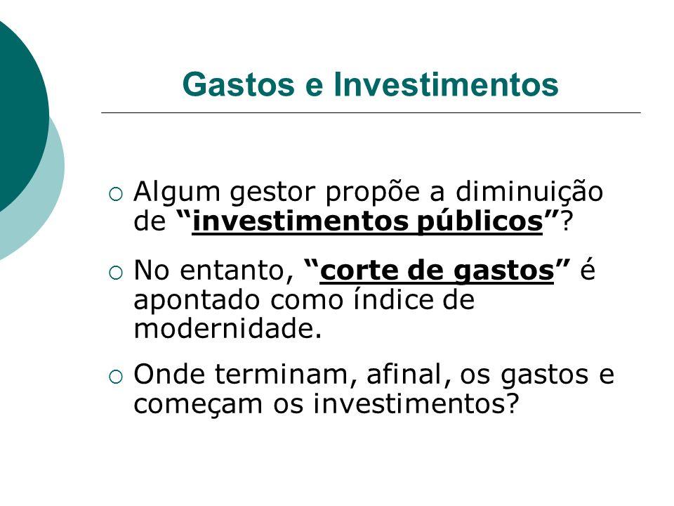 Gastos e Investimentos
