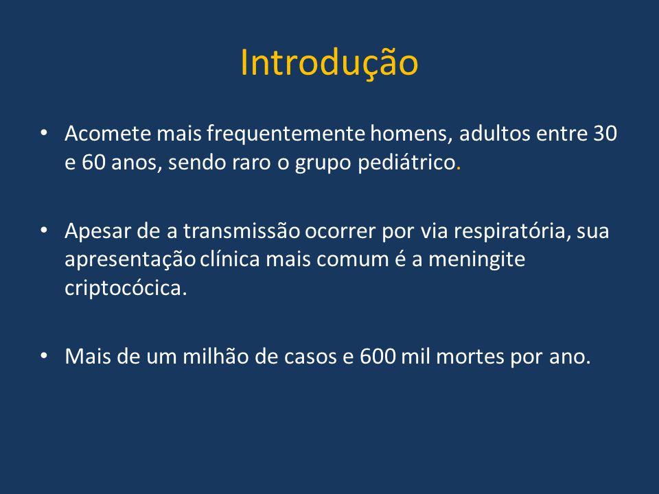 Introdução Acomete mais frequentemente homens, adultos entre 30 e 60 anos, sendo raro o grupo pediátrico.