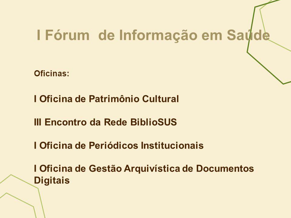 I Fórum de Informação em Saúde