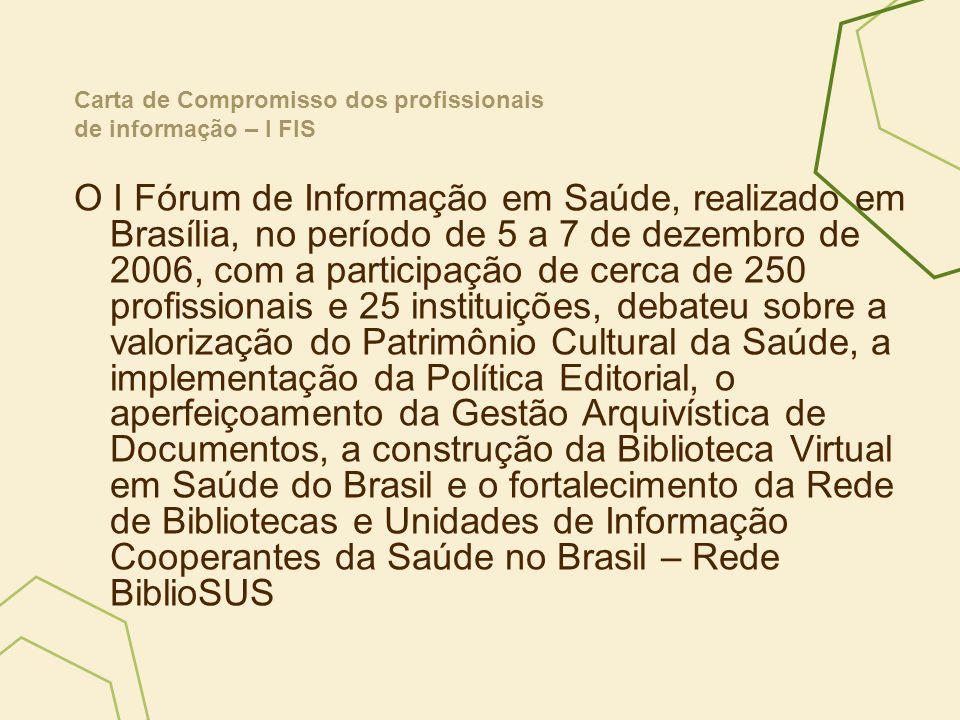Carta de Compromisso dos profissionais de informação – I FIS