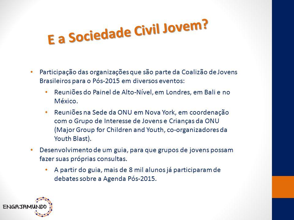 E a Sociedade Civil Jovem