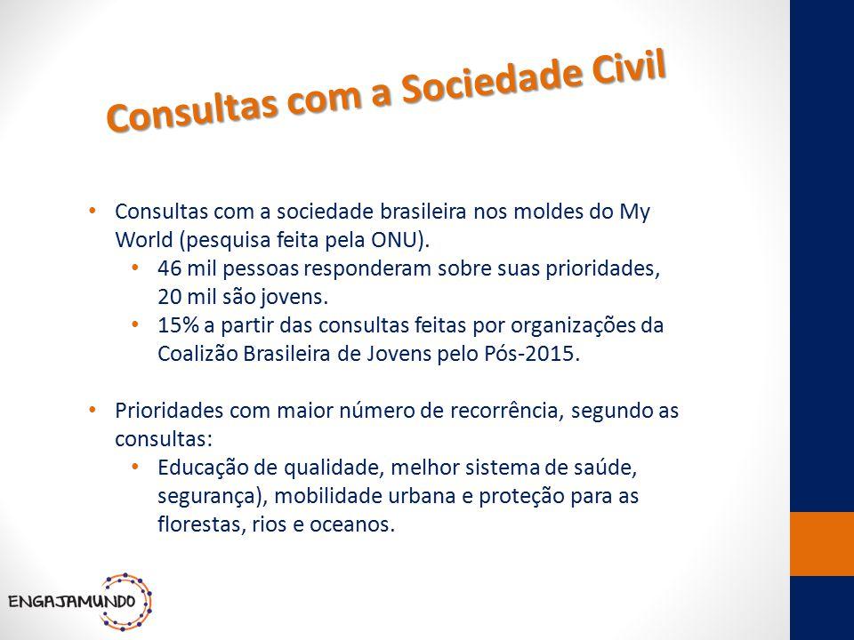 Consultas com a Sociedade Civil