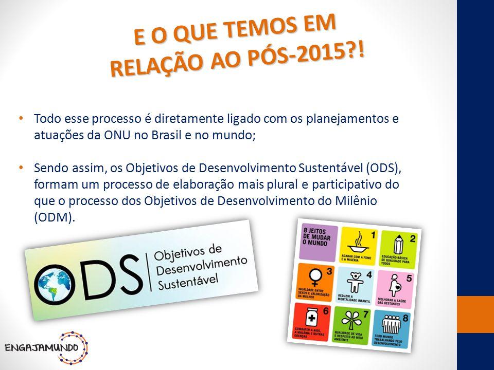 E O QUE TEMOS EM RELAÇÃO AO PÓS-2015 !