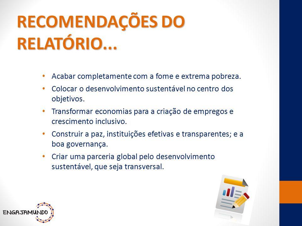 RECOMENDAÇÕES DO RELATÓRIO...