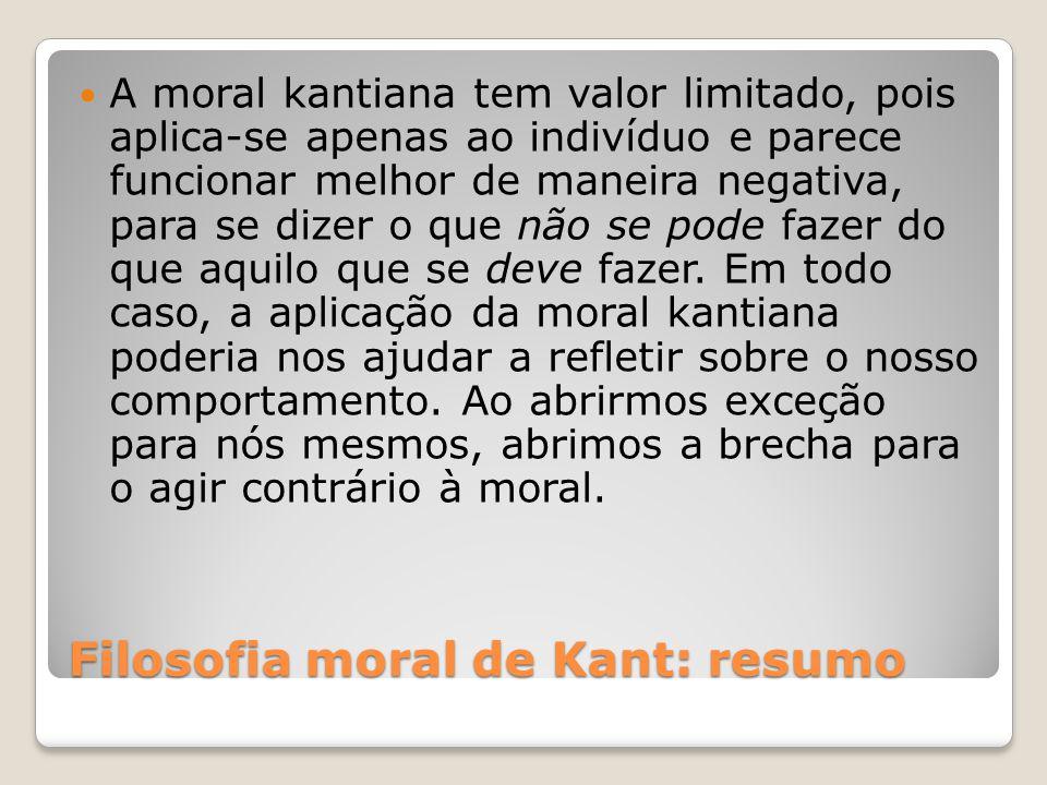 Filosofia moral de Kant: resumo