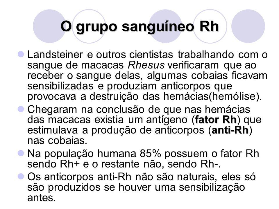 O grupo sanguíneo Rh