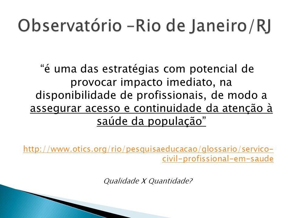 Observatório –Rio de Janeiro/RJ