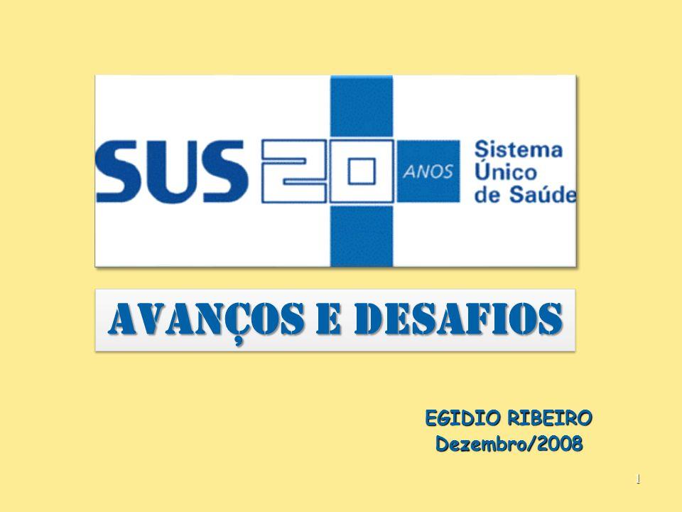 AVANÇOS E DESAFIOS EGIDIO RIBEIRO Dezembro/2008