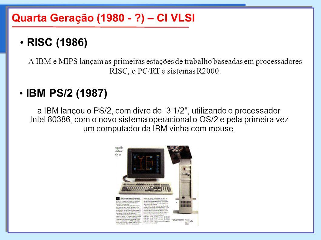 Quarta Geração (1980 - ) – CI VLSI