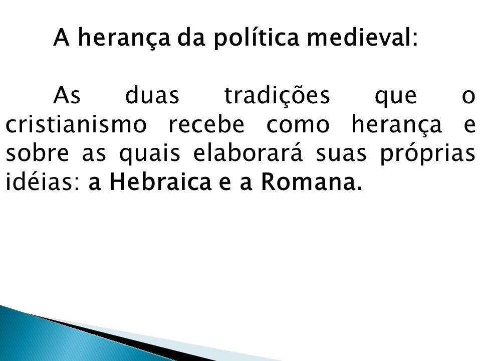 A herança da política medieval: