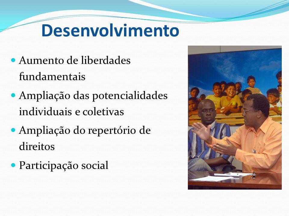 Desenvolvimento Aumento de liberdades fundamentais