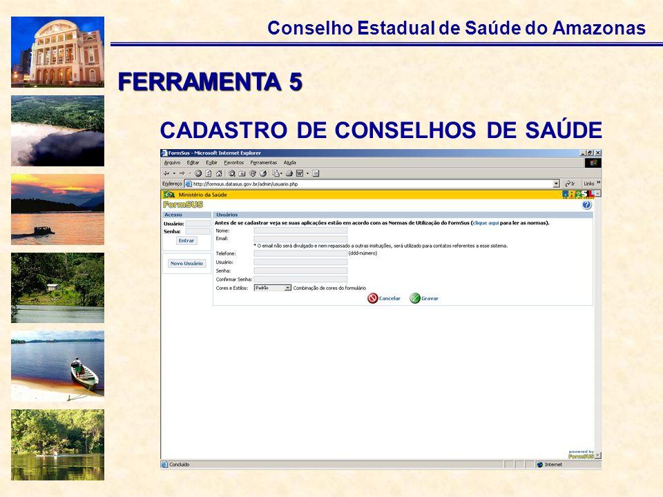 CADASTRO DE CONSELHOS DE SAÚDE