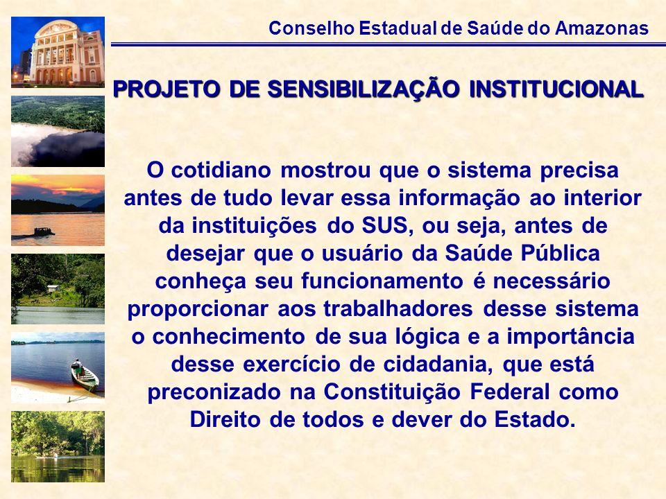 PROJETO DE SENSIBILIZAÇÃO INSTITUCIONAL