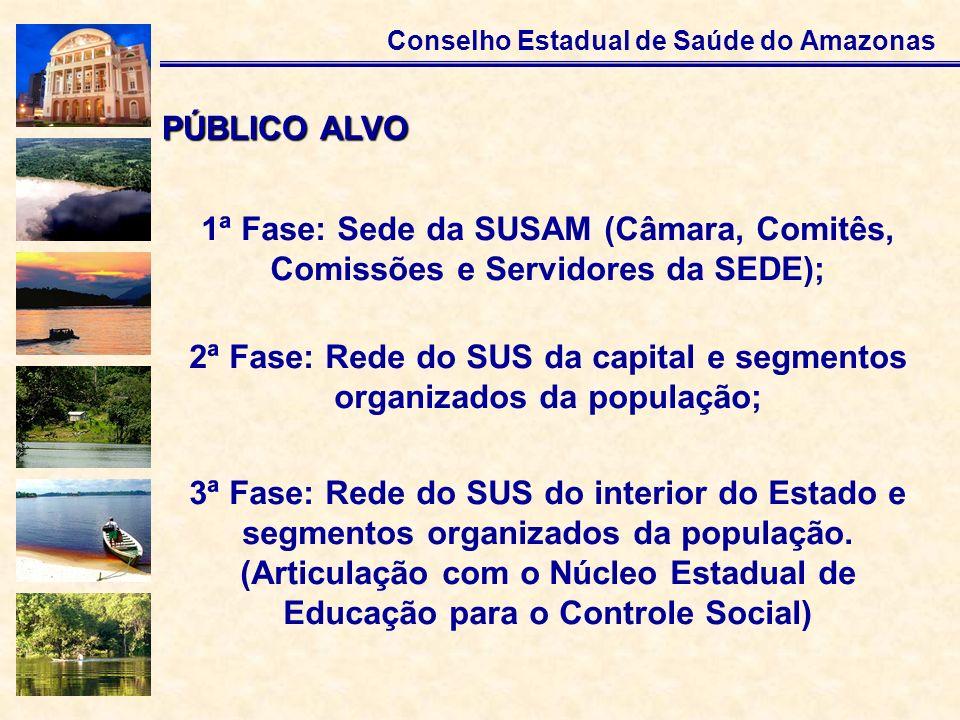 2ª Fase: Rede do SUS da capital e segmentos organizados da população;