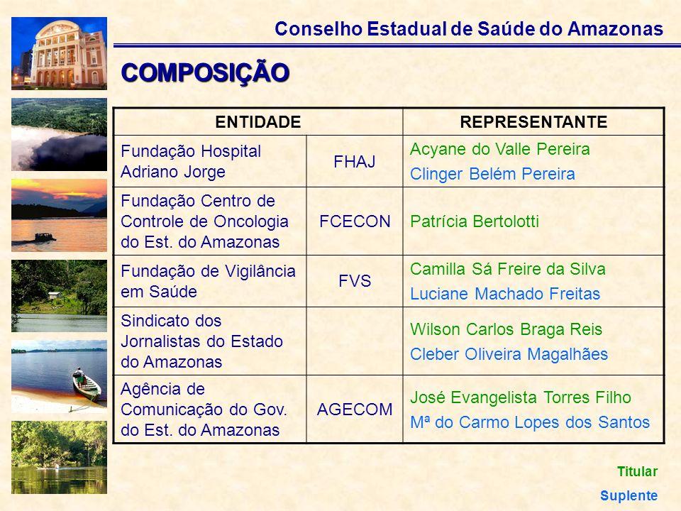 COMPOSIÇÃO ENTIDADE REPRESENTANTE Fundação Hospital Adriano Jorge FHAJ