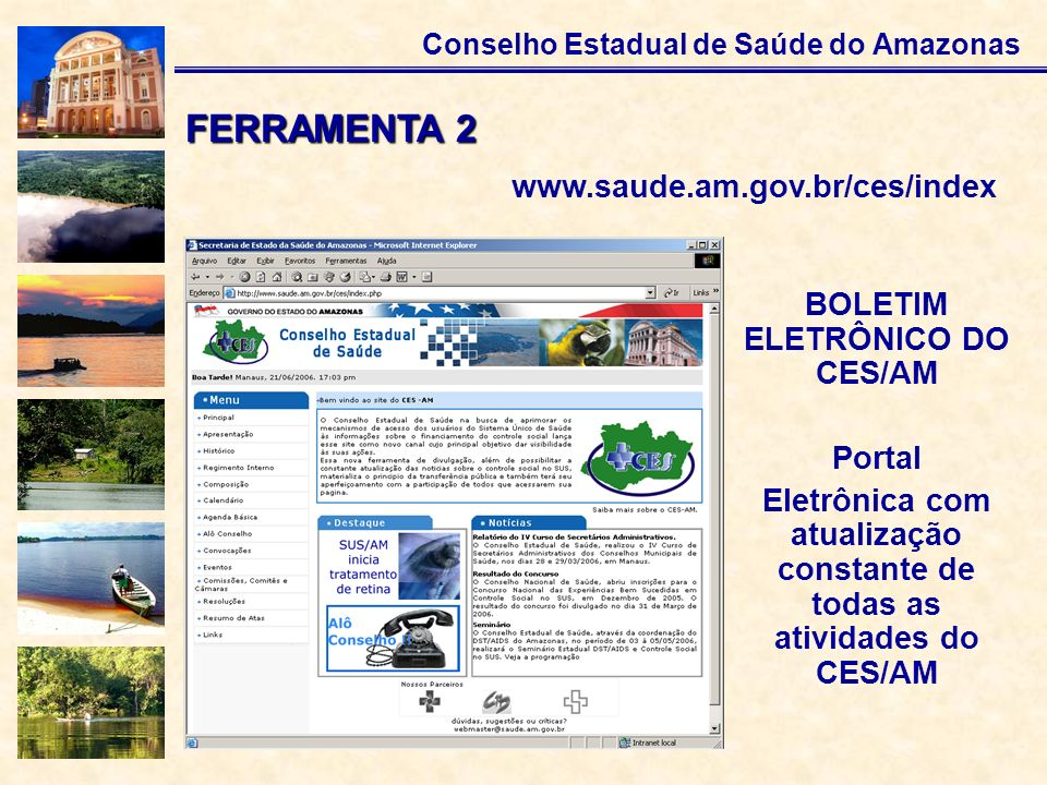 FERRAMENTA 2 www.saude.am.gov.br/ces/index