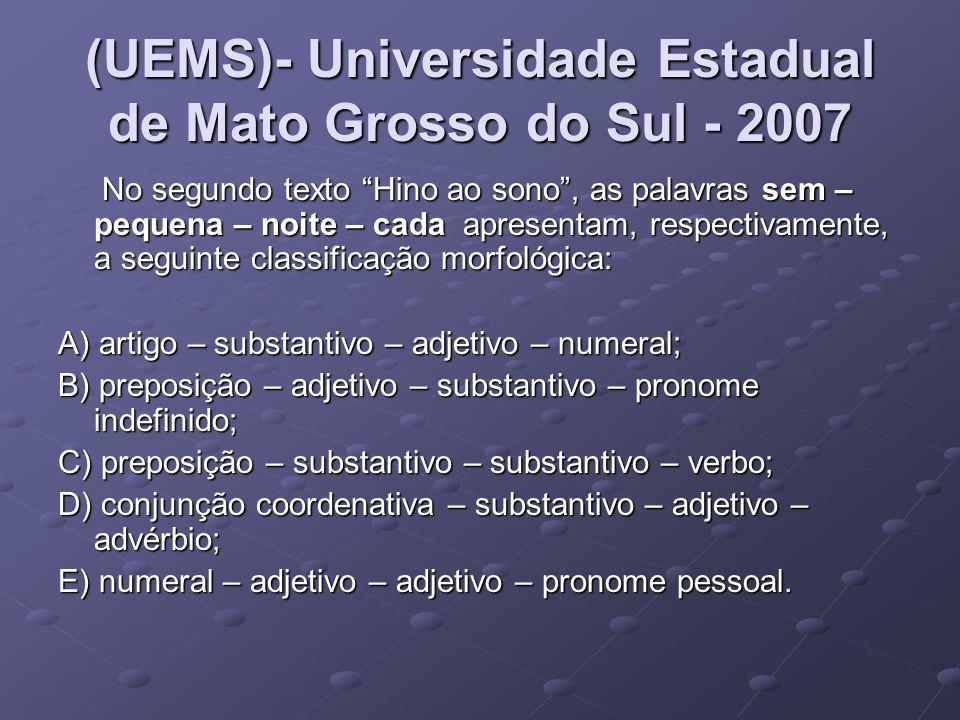 (UEMS)- Universidade Estadual de Mato Grosso do Sul - 2007
