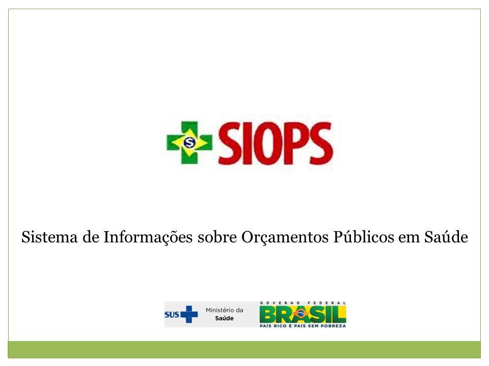 Sistema de Informações sobre Orçamentos Públicos em Saúde