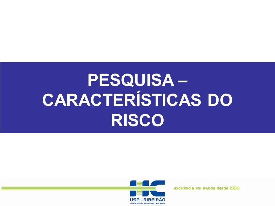 PESQUISA – CARACTERÍSTICAS DO RISCO