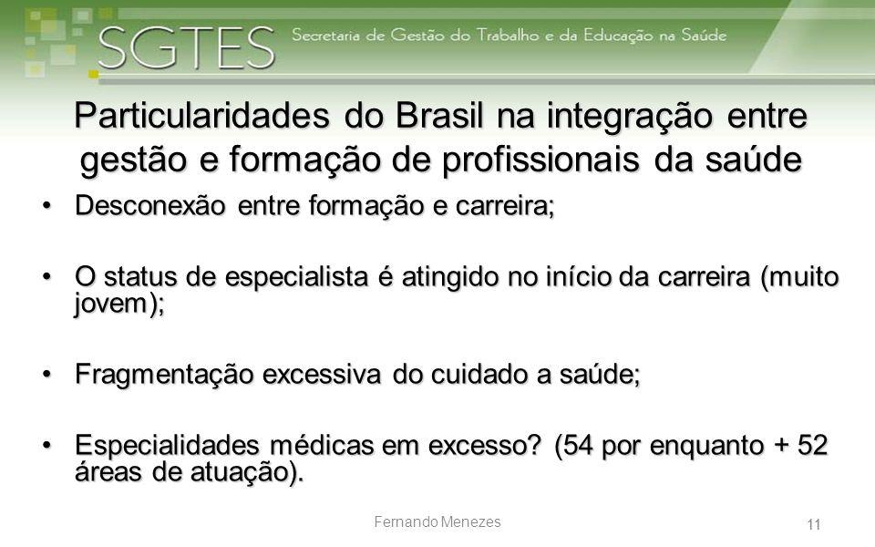 Particularidades do Brasil na integração entre gestão e formação de profissionais da saúde