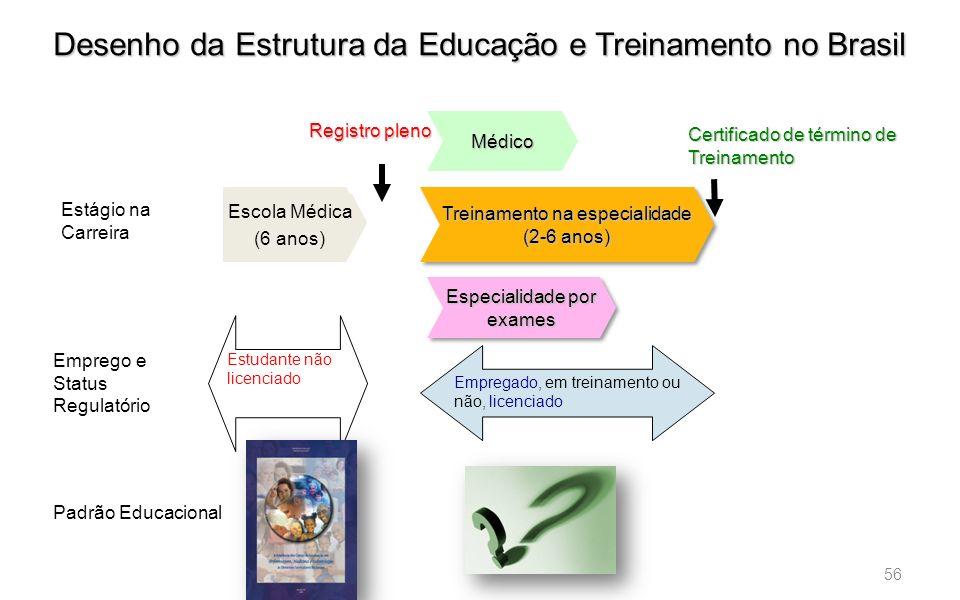 Desenho da Estrutura da Educação e Treinamento no Brasil