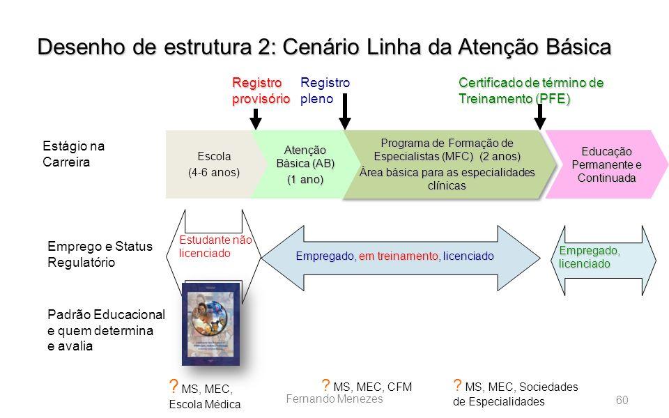 Desenho de estrutura 2: Cenário Linha da Atenção Básica