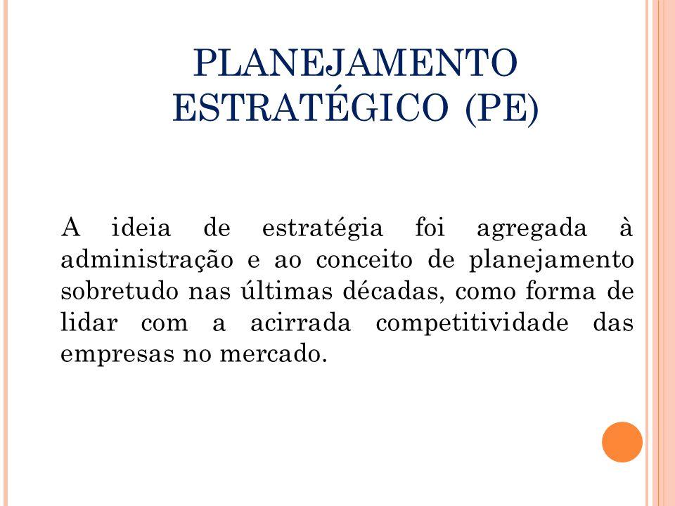 PLANEJAMENTO ESTRATÉGICO (PE)